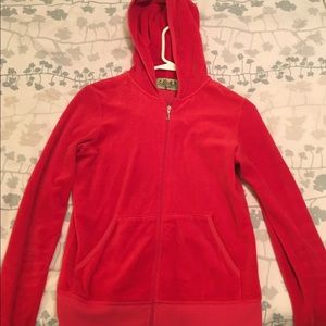 Juicy Couture Vintage Red Velour Jacket